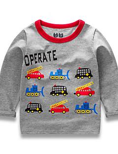 billige Babyoverdele-Baby Unisex Trykt mønster Langærmet T-shirt