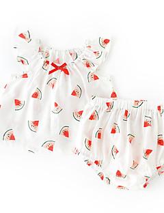 billige Sett med babyklær-Baby Pige Frugt Uden ærmer / Kortærmet Tøjsæt