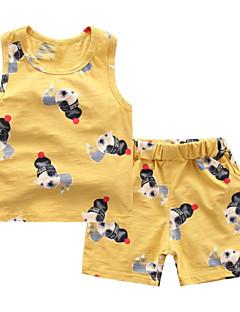 billige Tøjsæt til piger-Børn Unisex Trykt mønster Uden ærmer Tøjsæt