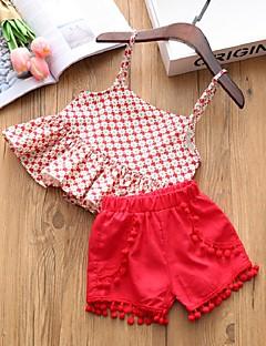 billige Tøjsæt til piger-Børn Pige Sun Flower Blomstret Uden ærmer Tøjsæt