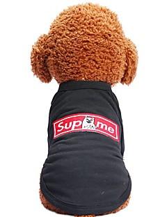 billiga Hundkläder-Hund / Katt / Husdjur T-shirt Hundkläder Djur / Tecknat / Citat och ordspråk Svart Cotton Kostym För husdjur Herr Sport och utomhus /