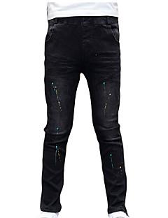 billige Drengebukser-Børn Drenge Prikker Farveblok Jeans