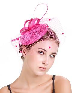 billige Trendy hårsmykker-Dame Vintage / Elegant fascinator - Blomst / Netting, Ensfarget