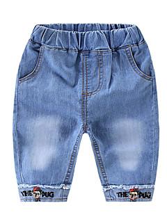 billige Bukser og leggings til piger-Børn / Baby Unisex Ensfarvet Jeans