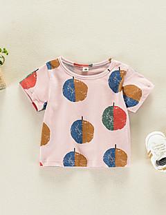 billige Babyoverdele-Baby Unisex Trykt mønster Kortærmet Bluse