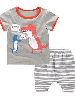 billige Tøjsæt til drenge-Børn / Baby Drenge Stribet / Trykt mønster Kortærmet Tøjsæt