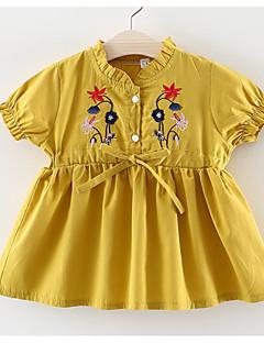 billige Babytøj-Baby Pige Blomstret Kortærmet Kjole