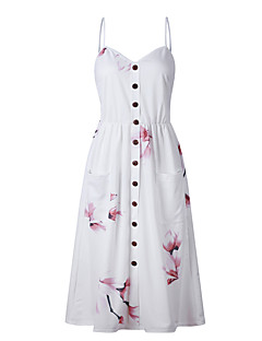 Χαμηλού Κόστους Ευκολοφόρετα φορέματα-Γυναικεία Βασικό Θήκη Φόρεμα - Γεωμετρικό / Συνδυασμός Χρωμάτων, Εξώπλατο / Στάμπα Μίντι