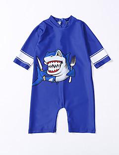 billige Badetøj til drenge-Børn Drenge Trykt mønster / Farveblok Kort Ærme Badetøj