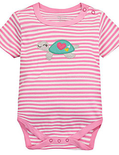 billige Babytøj-Baby Unisex Geometrisk Kort Ærme En del