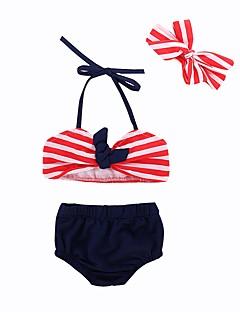 ea762a090 Bébé   Bebê Para Meninas Praia Listrado   Estampado Poliéster   Elastano  Roupa de Banho Vermelho