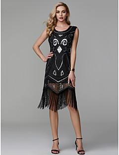 billiga Den lilla svarta-Åtsmitande Rund Asymmetrisk Polyester Glitter och glans Cocktailfest Klänning med Paljett av TS Couture®