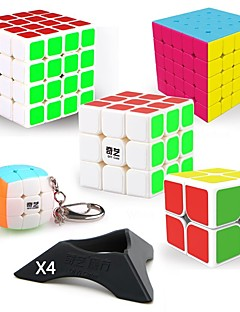 cheap -9 pcs Magic Cube IQ Cube QIYI QIYI-A Pyramorphix Alien Mini 2*2*2 3*3*3 4*4*4 Smooth Speed Cube Magic Cube Puzzle Cube Smooth Sticker Professional Level Gaming Teen Adults' Toy All Boys' Girls' Gift
