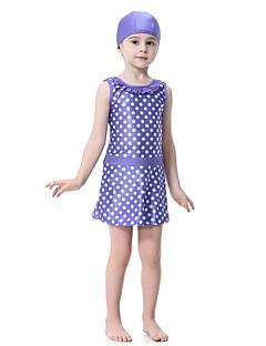 cheap Boys' Swimwear-Kids Girls' Polka Dot Sleeveless Swimwear