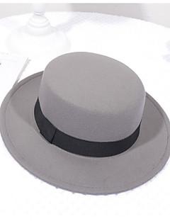billige Hatter til damer-Dame Vintage Bøttehatt Ensfarget Polyester