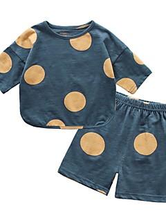 billige Tøjsæt til drenge-Baby Drenge Prikker Kortærmet Tøjsæt