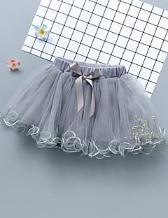 billige Pigenederdele-Børn Baby Pige Ensfarvet Nederdel