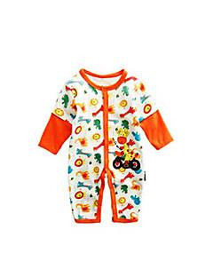 billige Babytøj-Baby Unisex Trykt mønster Langærmet En del