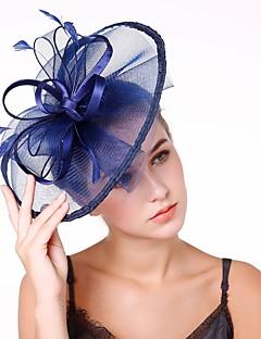 billige Trendy hårsmykker-Dame Elegant / Mote fascinator - Blomst / Netting, Ensfarget