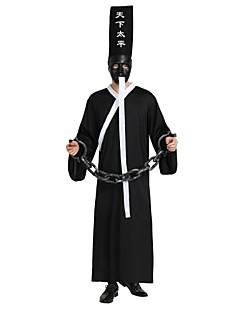 billige Voksenkostymer-Engel & Demon Kostume Unisex Halloween / De dødes dag Festival / høytid Halloween-kostymer Svart Ensfarget / Halloween Halloween