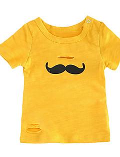 billige Babyoverdele-Baby Unisex Trykt mønster Kortærmet Undertrøje og cami-top