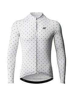 billige Sykkelklær-Mysenlan Herre Langermet Sykkeljersey - Hvit Sykkel Jersey