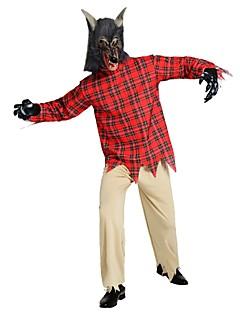 billige Halloweenkostymer-Engel & Demon / Spøkelse Drakter Unisex Halloween / Karneval / De dødes dag Festival / høytid Halloween-kostymer Rød Ensfarget / Rutet /
