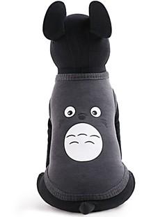billiga Hundkläder-Hund / Katt / Husdjur Väst Hundkläder Mönstrad / Figur / Tecknat Grå Bomull / Polyester Kostym För husdjur Dam Ledigt / vardag / Mode