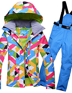 cheap Ski Wear-GQY® Women's Ski Jacket with Pants Waterproof Thermal / Warm Windproof Ski / Snowboard Winter Sports Polyester Clothing Suit Ski Wear