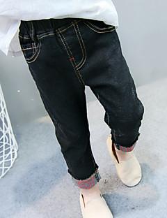 billige Jeans til piger-Børn Pige Geometrisk Jeans