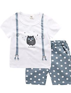 billige Tøjsæt til drenge-Børn / Baby Drenge Trykt mønster Kortærmet Tøjsæt