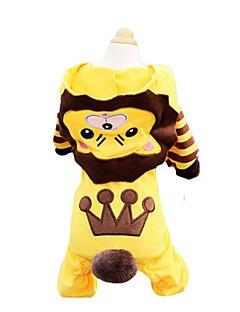 billiga Hundkläder-Hund / Katt / Husdjur T-shirt / Tröja / Huvtröjor Hundkläder Randig / Mönstrad / Tecknat Gul Cotton Kostym För husdjur Herr One Piece /