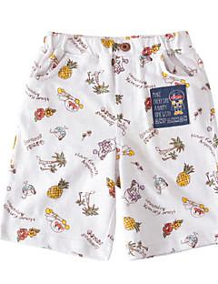 billige Drengebukser-Børn Drenge Ensfarvet Trykt mønster Shorts