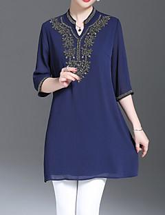 billige Bluse-Dame - Geometrisk Vintage / Basale Bluse