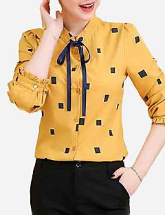 voordelige Damestops-Dames Blouse Uitgaan Geometrisch Overhemdkraag