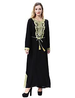 baratos Vestidos-Mulheres balanço / Abaya / Kaftan Vestido - Fenda Médio