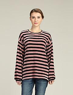 baratos Suéteres de Mulher-Mulheres Activo / Básico Luva Lantern Pulôver - Listrado