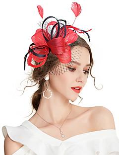 billige Trendy hårsmykker-Dame Vintage / Elegant Hårklemme / fascinator - Sløyfe / Netting