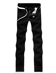 billige Herrebukser og -shorts-Herre Forretning Chinos Bukser Ensfarget
