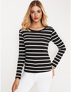 Χαμηλού Κόστους Κάτω Από $9.99-Γυναικεία T-shirt Ενεργό Ριγέ / Φθινόπωρο / Χειμώνας / πρόστιμο Stripe