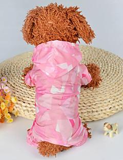 billiga Hundkläder-Hund / Katt Jumpsuits Hundkläder Tryck / Färgblock Blå / Rosa Rayon / Polyester Kostym För husdjur Dam One Piece / Fritid