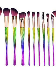 billiga Sminkborstar-11 st Makeupborstar Professionell Borstsatser Nylon fiber Miljövänlig / Mjuk Plast