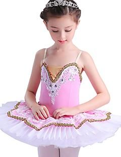 tanie Dziecięca odzież do tańca-Balet Suknie Dla dziewczynek Wydajność Spandeks Materiały łączone Bez rękawów Tutu