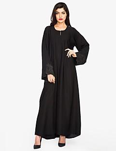 ieftine Îmbrăcăminte Exterior-Pentru femei Abaya Șic Stradă / Sofisticat - Mată, Dantelă