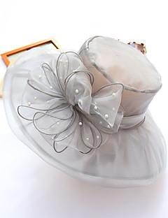 billige Trendy hatter-Dame Fest / Ferie Bøttehatt / Solhatt / Stråhatt - Drapering, Lapper