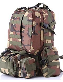 billiga Ryggsäckar och väskor-55 L Ryggsäckar / Ryggsäck - Snabb tork, Bärbar Utomhus Camping Nylon Grå, Kamoflage, Khaki grön