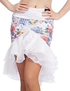 baratos Roupas de Dança Latina-Dança Latina Fundos Mulheres Treino Renda / Seda Sintética Caixilhos / Fitas Natural Saias