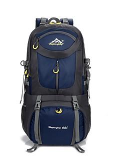 billiga Ryggsäckar och väskor-40 L Ryggsäck / ryggsäck - Anti-halk, Torkar snabbt, Bärbar Camping, Klättring, Skoter Nylon Grön, Blå, Silver+Orange