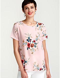 Χαμηλού Κόστους Γυναικείες Μπλούζες-Γυναικεία Μπλούζα Φλοράλ Στάμπα / Καλοκαίρι / Floral Patterns