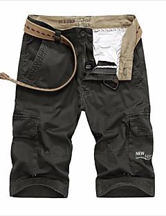 billige Herrebukser og -shorts-Herre Militær Store størrelser Løstsittende Chinos / Shorts Bukser Ensfarget